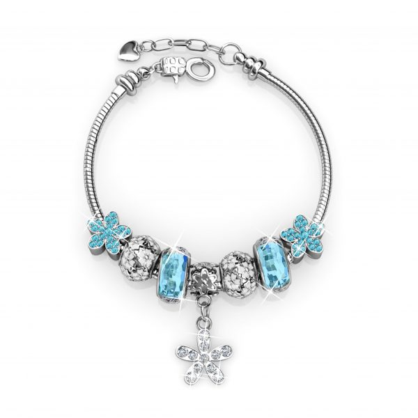 Enchanted Flower Charm Bracelet