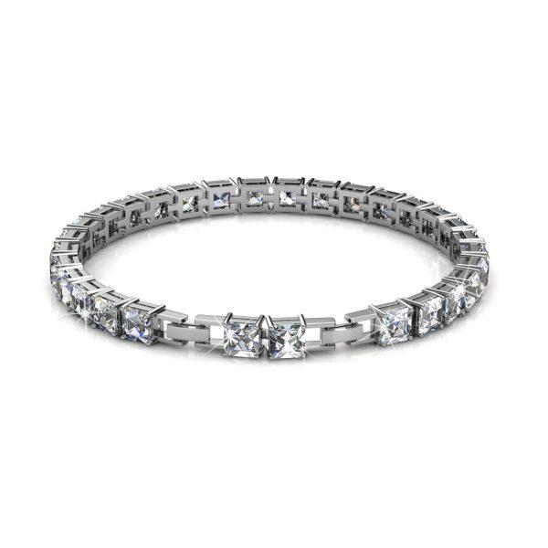 Square Tennis Bracelet