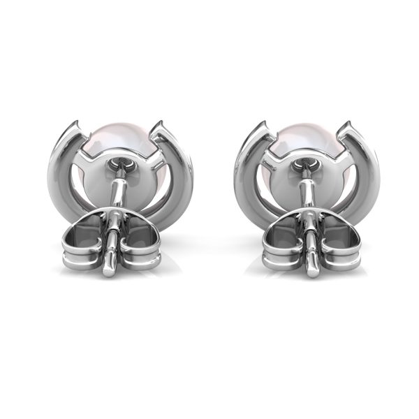 Cresent Pearl Earrings