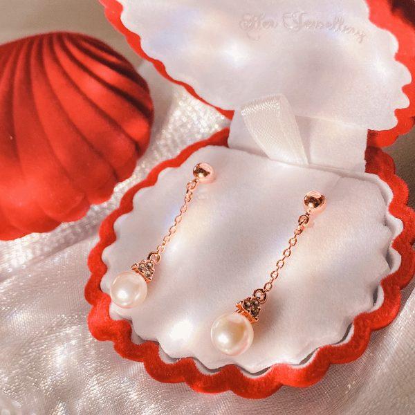 Dangling Elegant Pearl Earrings