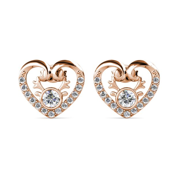 Antlers Heart Earrings
