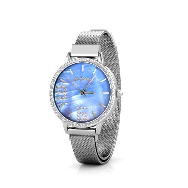 Stylish Crystal Shell Dial Watch