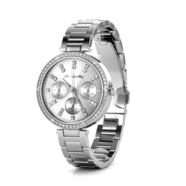 Cube Metallic Watch