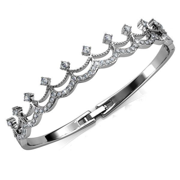 Crown Diamond Bangle
